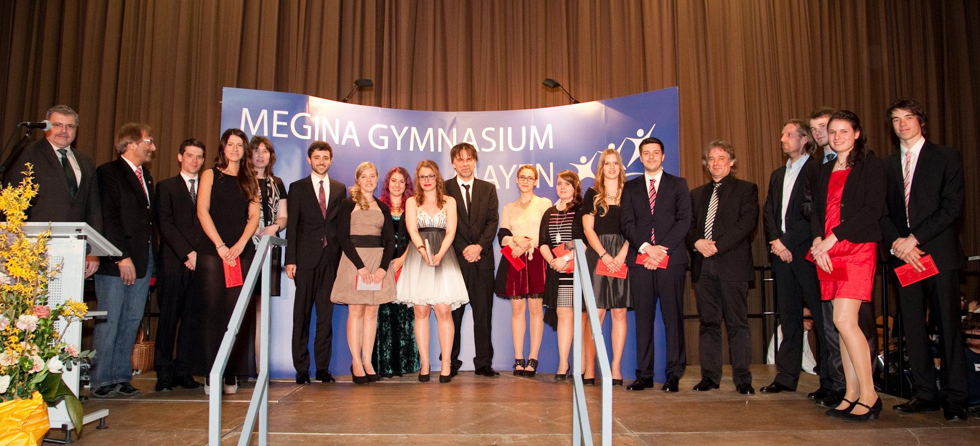 Abiturientia 2014 Ehrungen Theater-AG BigBand Schulorchester Lauf-AG